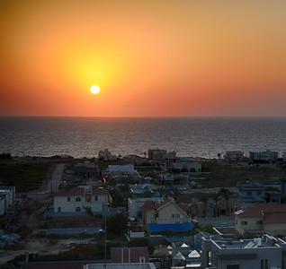 Sunset in Ashqelon